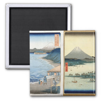 Mountains and coastline magnet