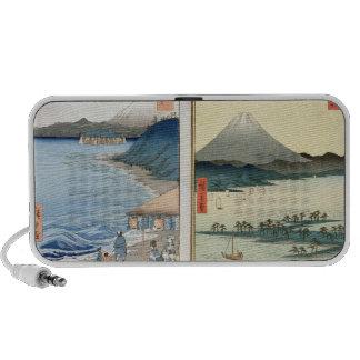 Mountains and coastline iPhone speaker