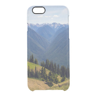 Mountains and Deer Clear iPhone 6/6S Case