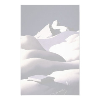 Mountains And Hills of Snow in Winter Stationery