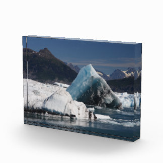 mountains and ice acrylic award