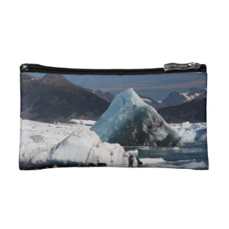 mountains and ice in Alaska Cosmetic Bags