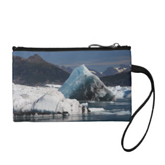 mountains and ice in Alaska Coin Purse