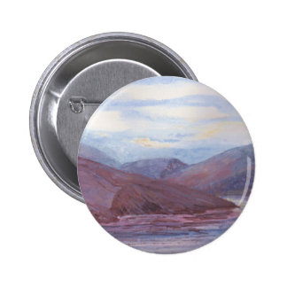 Mountains and Lake Painting Pinback Buttons
