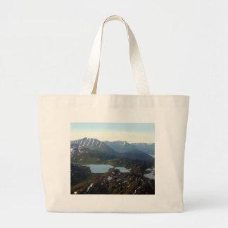Mountains and lakes, Alaska Large Tote Bag