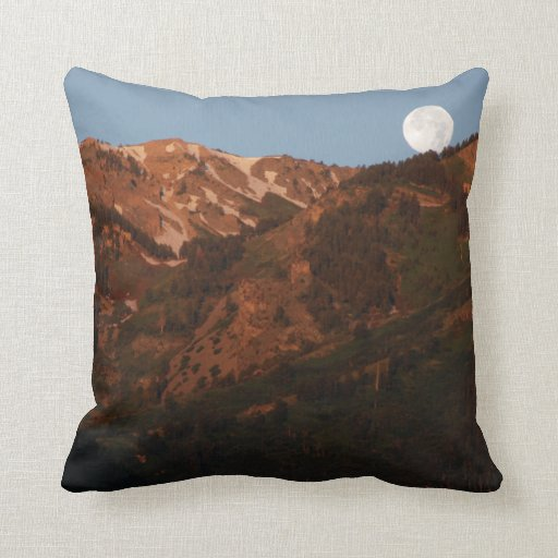 Mountains and Moonset Pillows