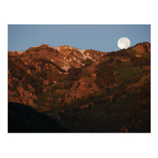 Mountains and Moonset Post Cards