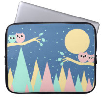 mountains and owls computer sleeve