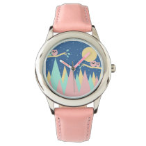 mountains and owls wristwatch