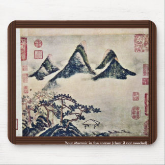 Mountains And Pine Trees In The Spring By Mi Fei Mouse Pad