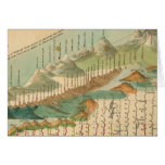 Mountains and Rivers Map Greeting Card