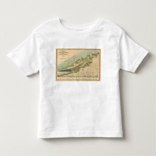 Mountains and Rivers Map Shirts