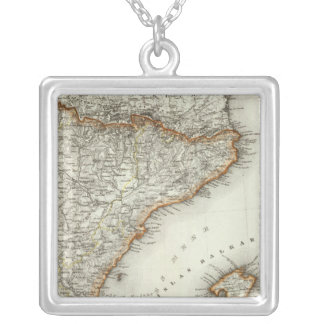 Mountains and Rivers of Canary Islands Silver Plated Necklace