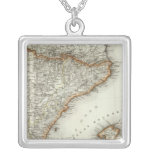 Mountains and Rivers of Canary Islands Square Pendant Necklace