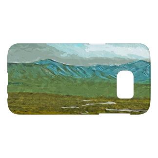 Mountains and Rivers of Denali Alaska Abstract Samsung Galaxy S7 Case