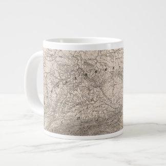 Mountains and Rivers of Europe Giant Coffee Mug