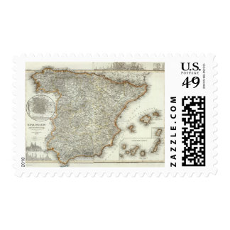 Mountains and Rivers of Madrid, Spain Stamps