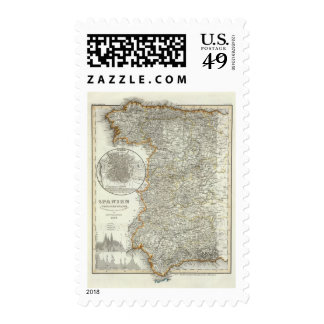 Mountains and Rivers of Madrid Stamp