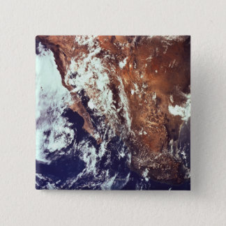 Mountains and Seas Seen from Space Pinback Button