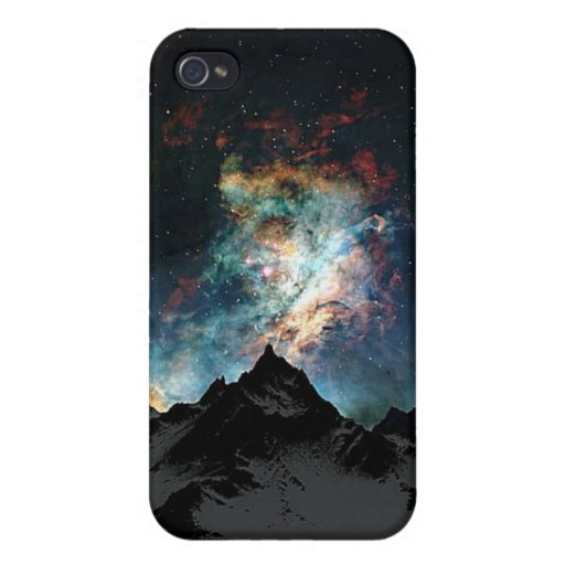 Mountains and Star Dust iPhone 4/4S Covers