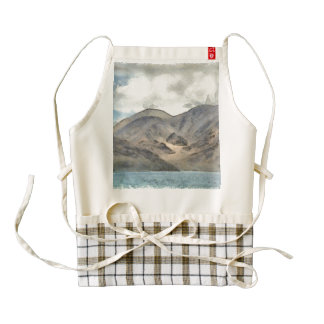 Mountains and the Pangong Tso lake Zazzle HEART Apron