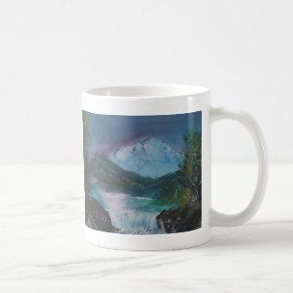 mountains and waterfalls coffee mug