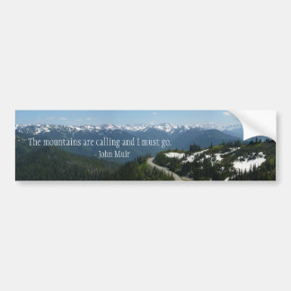 Mountains are Calling Bumper Sticker