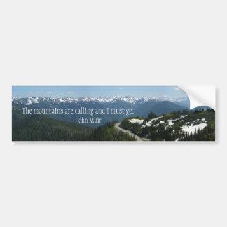 Mountains are Calling Car Bumper Sticker