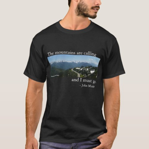 Mountains are Calling _ Dark T_Shirt