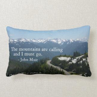 Mountains are Calling Lumbar Pillow