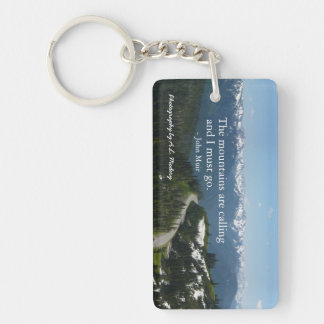 Mountains are Calling (Olympic N.P.) Keychain