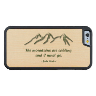 Mountains are calling/Snow tipped mtns Carved® Maple iPhone 6 Bumper