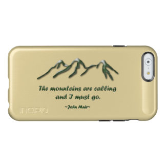 Mountains are calling/Snow tipped mtns Incipio Feather® Shine iPhone 6 Case