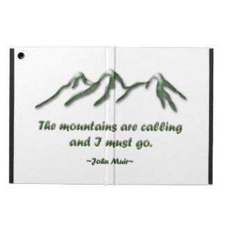 Mountains are calling/Snow tipped mtns iPad Air Cover