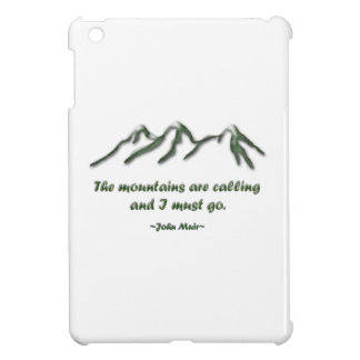 Mountains are calling/Snow tipped mtns iPad Mini Cover