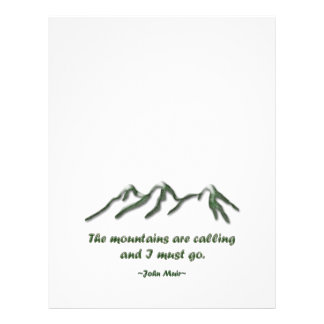 Mountains are calling/Snow tipped mtns Letterhead
