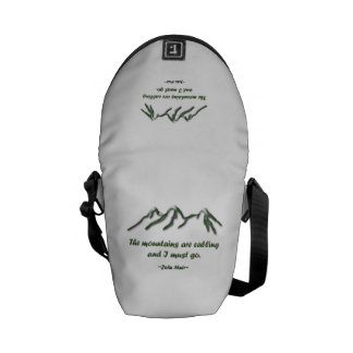 Mountains are calling/Snow tipped mtns Messenger Bags