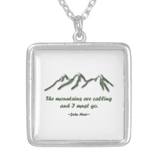 Mountains are calling Snow tipped mtns Pendant