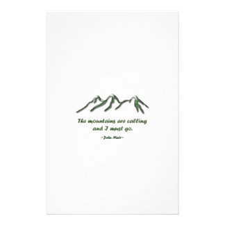Mountains are calling/Snow tipped mtns Stationery Paper