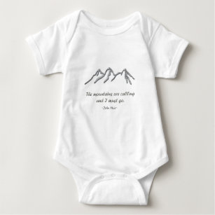 Mountains are calling snowy blizzard baby bodysuit