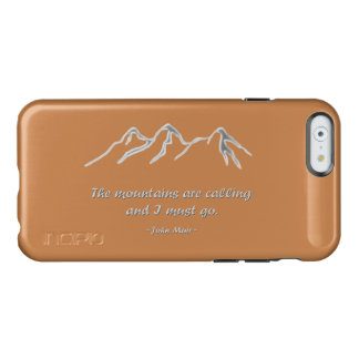 Mountains are calling snowy blizzard incipio feather® shine iPhone 6 case