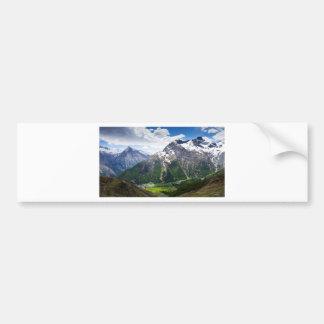 Mountains Around Saas Fee Bumper Sticker