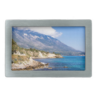 Mountains at coast  with sea in Kefalonia Greece Belt Buckle
