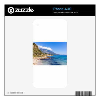 Mountains at coast  with sea in Kefalonia Greece Skins For iPhone 4S