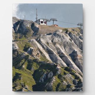 Mountains at La Plagne in France Plaque
