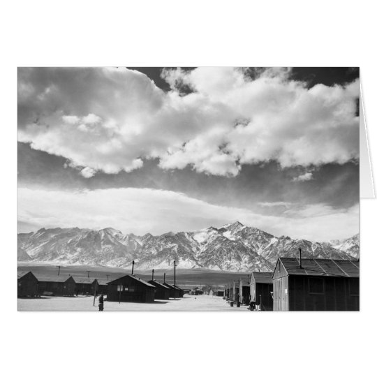Mountains at Manzanar, 1943 Card