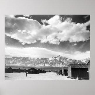 Mountains at Manzanar: 1943 Poster