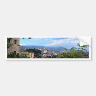 Mountains Behind Scalea Car Bumper Sticker