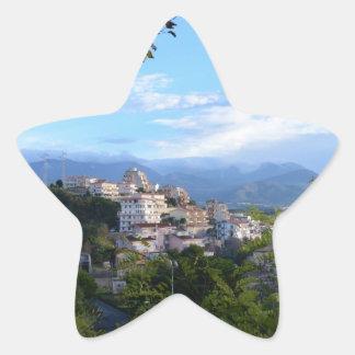 Mountains Behind Scalea Star Sticker