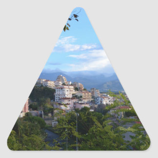 Mountains Behind Scalea Triangle Sticker